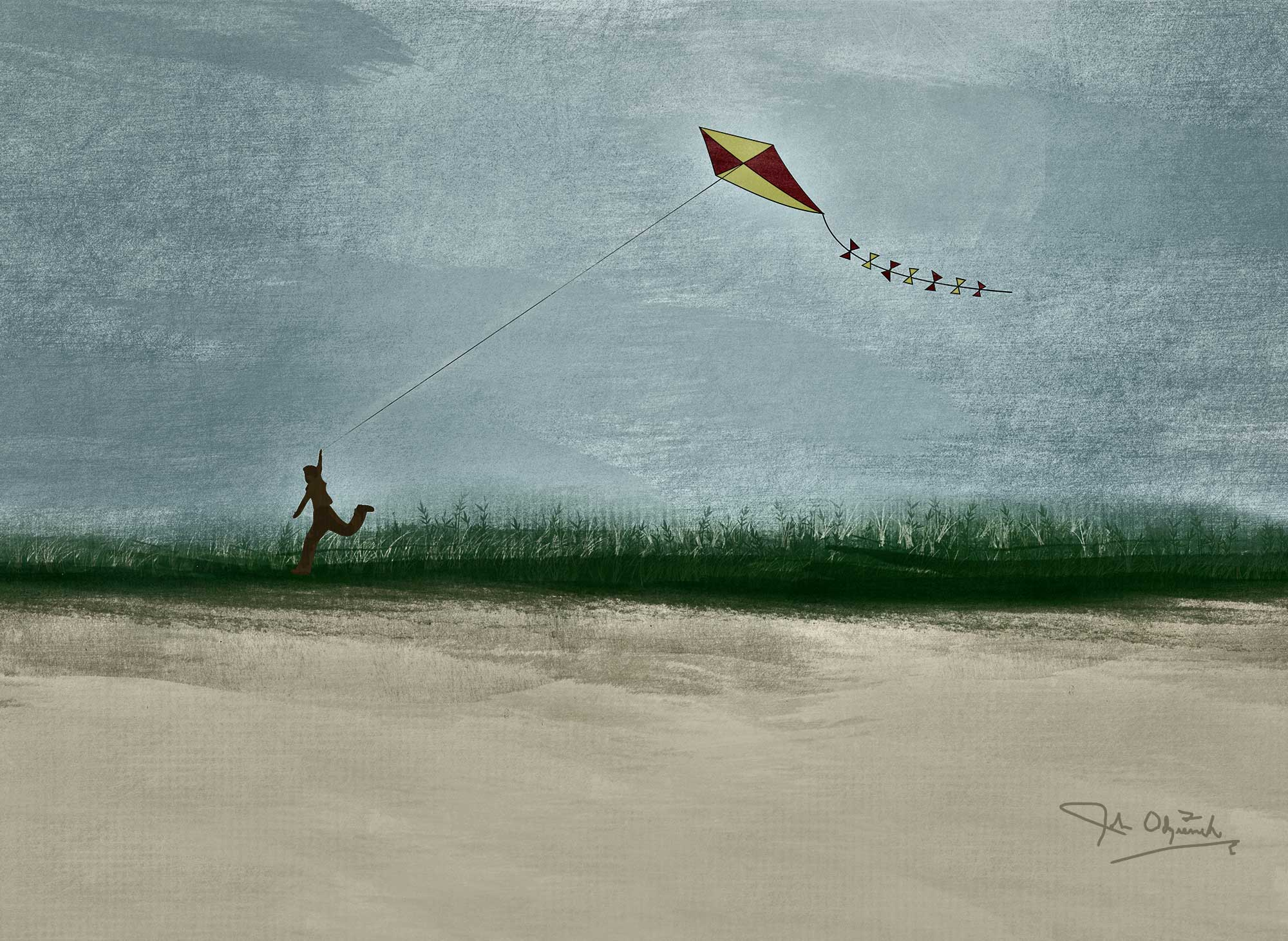 Odziemek Boy Flying Kite