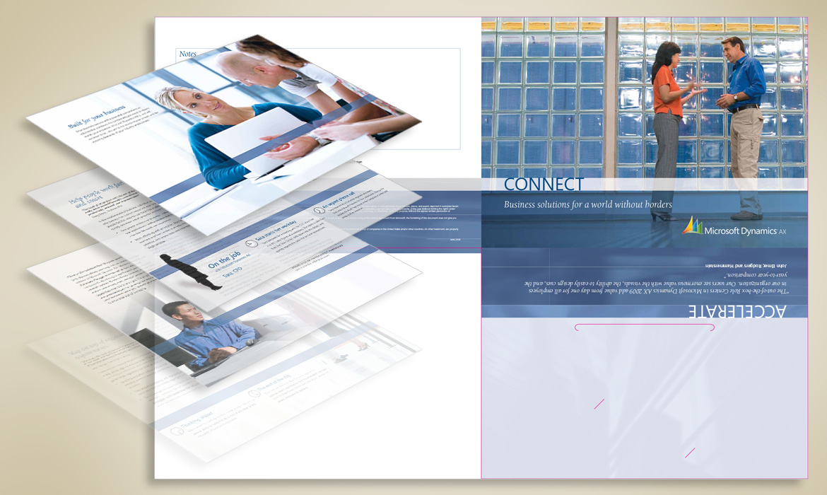 Microsoft Dynamics Brochure design