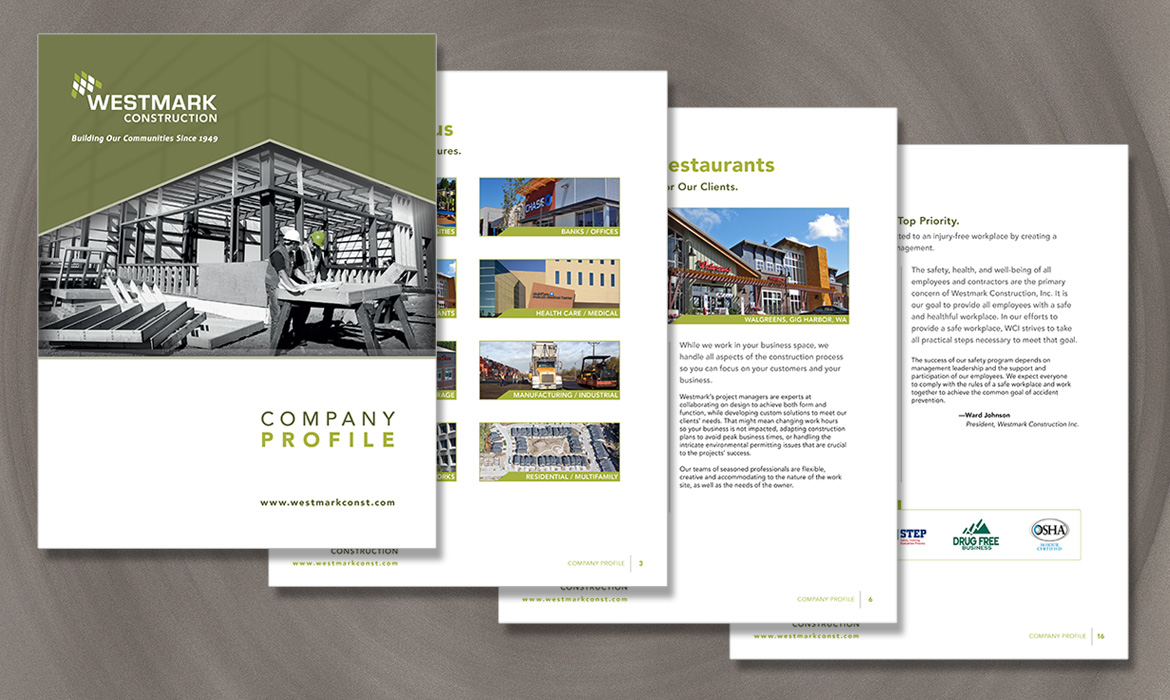 Westmark Construction company profile design